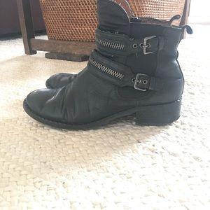 Barberton Leather Buckle Bootie